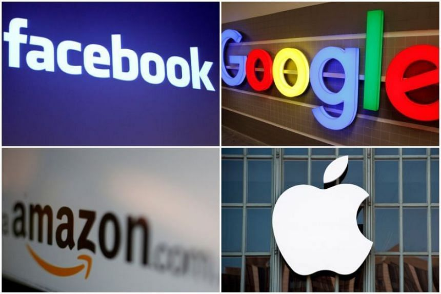 Tech giants Alphabet/Google, Facebook, Amazon and Apple suffered bruising losses on reports that US antitrust officials are stepping up oversight of Big Tech.