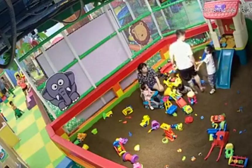 A man physically assaulted a five-year-old boy at an indoor playground on April 9, 2018.
