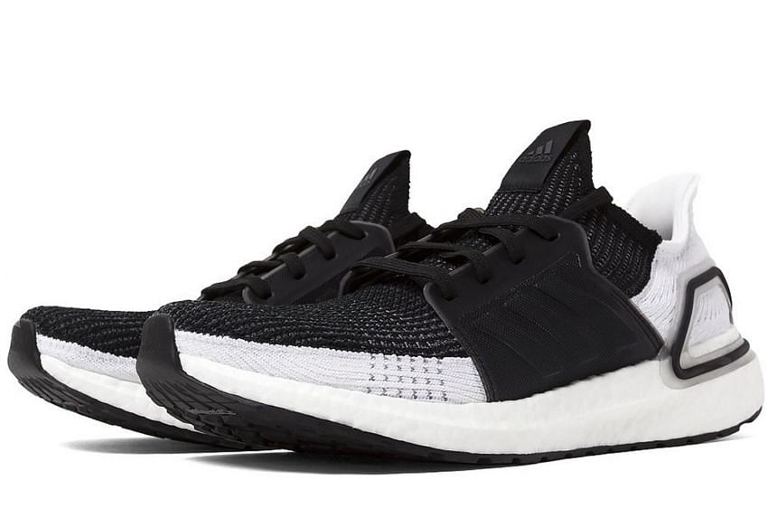 The Ultraboost 19 has 20 per cent more Boost material than its predecessors for higher energy return.