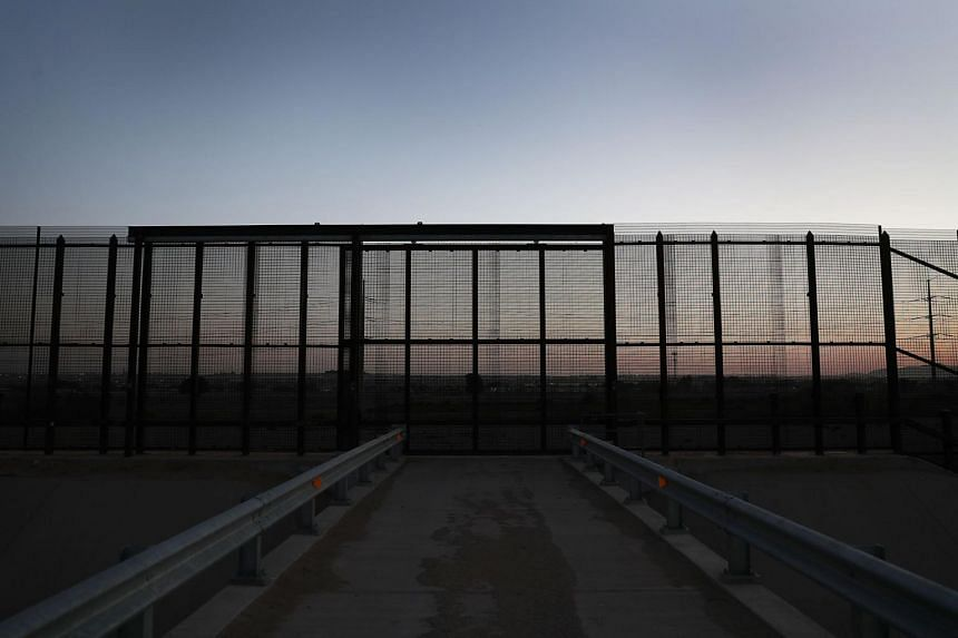 A border fence between the US and Mexico seen on June 1, 2019, in El Paso, Texas.