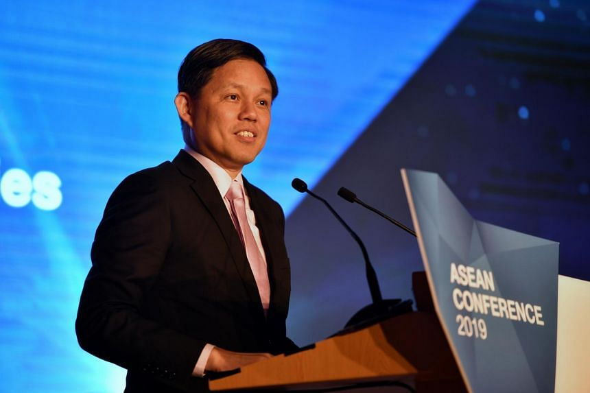 Trade and Industry Minister Chan Chun Sing said on June 4 that Asean countries should work on common platforms and systems, such as payment systems and intellectual property protection.