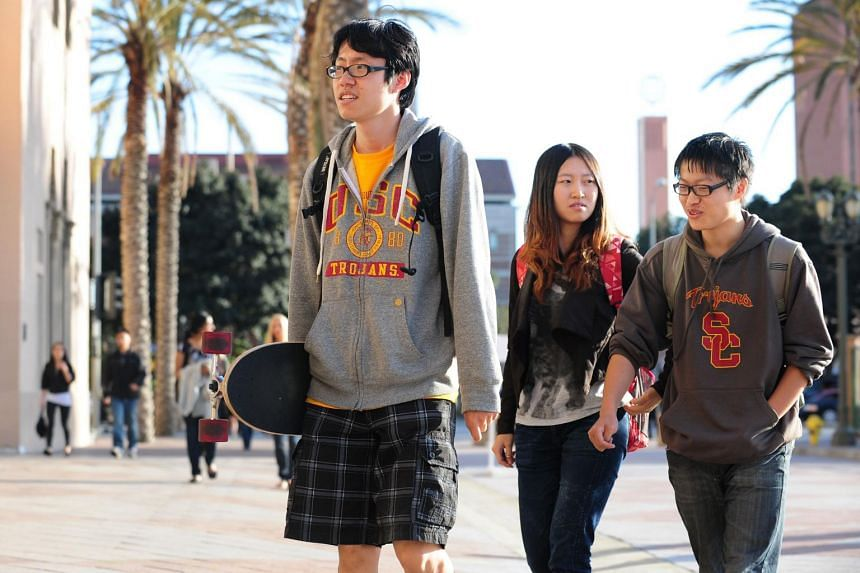 Students of the University of Southern California on April 18, 2012. In recent weeks, several Chinese graduate students and academics have said that they find the academic and job environment in the United States increasingly unfriendly.