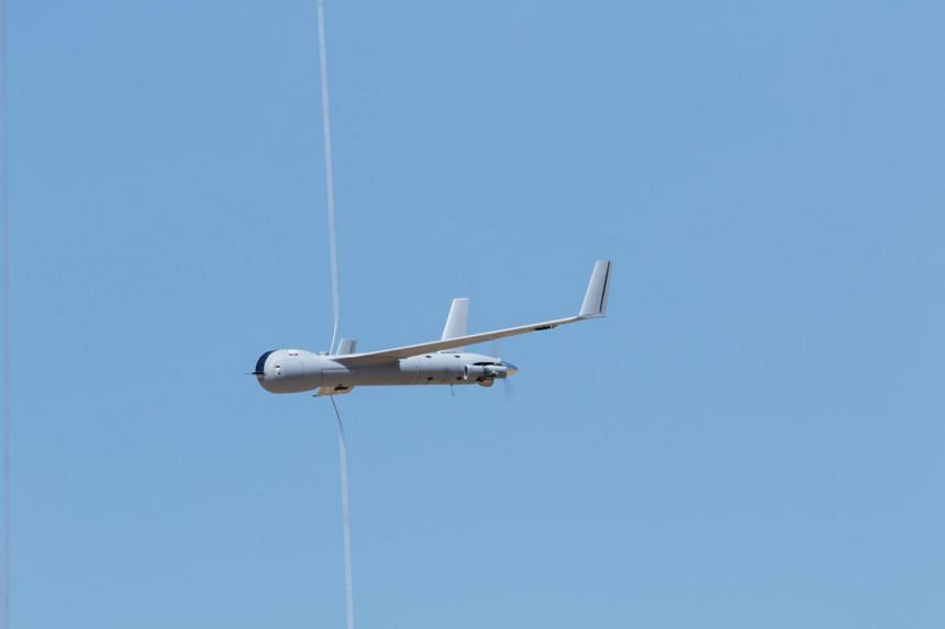 A ScanEagle drone on display in Spain on May 15, 2018.  The Pentagon announced on May 31 that it would sell 34 such drones to the governments of Malaysia, Indonesia, the Philippines and Vietnam for a total of US$47 million (S$64 million).