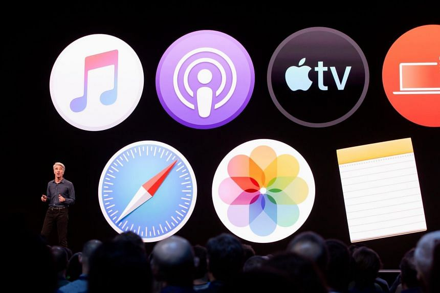 Apple's senior vice-president of Software Engineering Craig Federighi speaks during Apple's Worldwide Developer Conference in San Jose, California, on June 3, 2019.