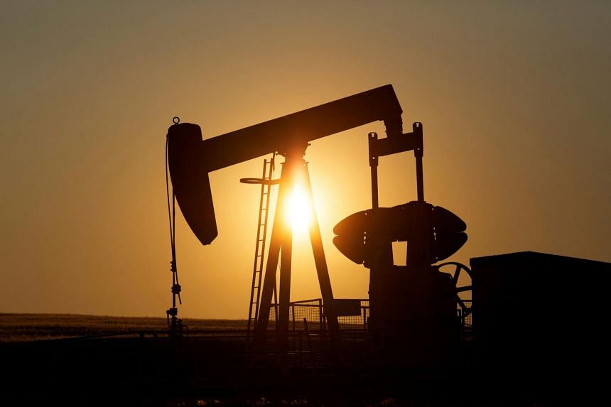 Oil has fallen almost 20 per cent from a peak in late April, as trade relations between Washington and Beijing deteriorated and the White House announced tariffs on Mexican goods.