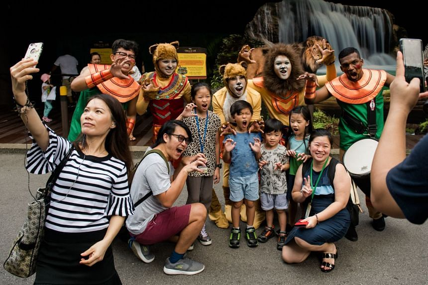 The savannah-themed trams and musical performers will stop at three locations to do a short interactive storytelling performance of how lions go through life's journey.