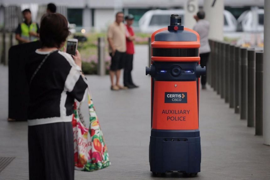 The robot, which belongs to Certis which provides security services at Changi Airport, is currently on trial.