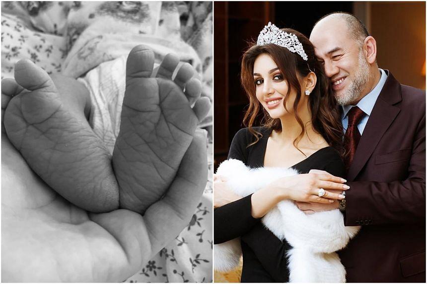 Tengku Ismail Leon Petra was born on May 21, 2019, to Sultan Muhammad V and his wife Oksana Voevodina.