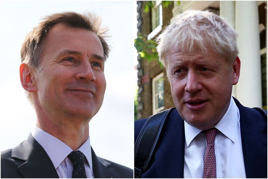 Britain's foreign secretary Jeremy Hunt (left) and former foreign secretary Boris Johnson are two of the contenders to replace Britain's Prime Minister Theresa May.