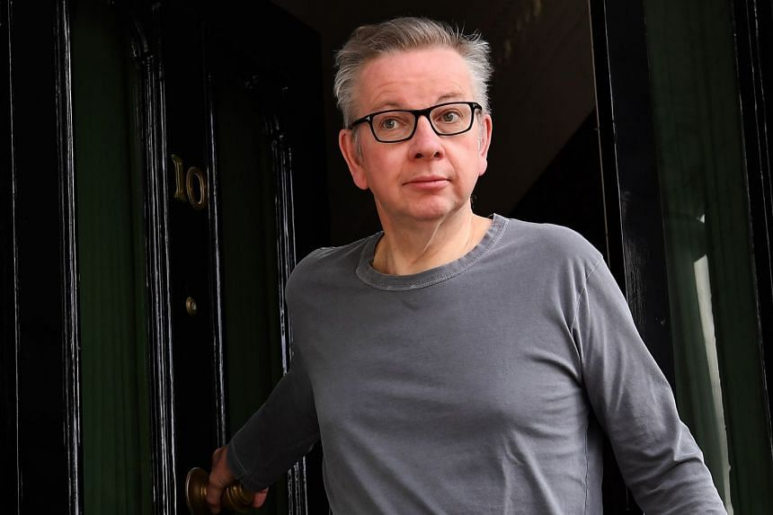Michael Gove departs his home for a run in London, May 28, 2019.