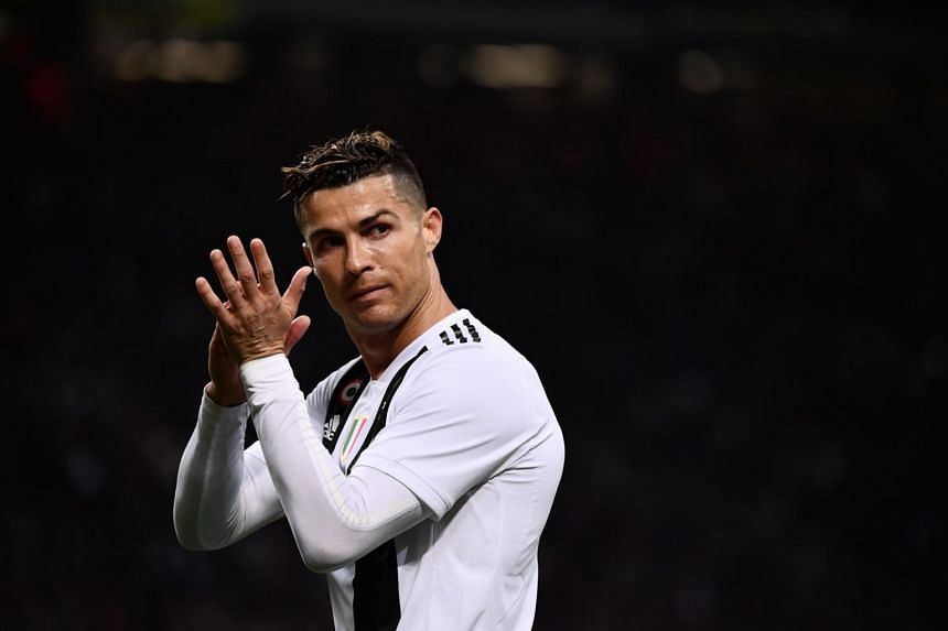 Juventus' Portuguese forward Cristiano Ronaldo gestures during the Italian Serie A football match between Inter Milan and Juventus on April 27, 2019 at the San Siro stadium in Milan.