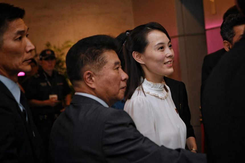 According to the Korean Central News Agency, Kim Yo Jong (pictured) and Kim Jong Un attended a mass gymnastics and artist performance at the May Day Stadium on Monday.