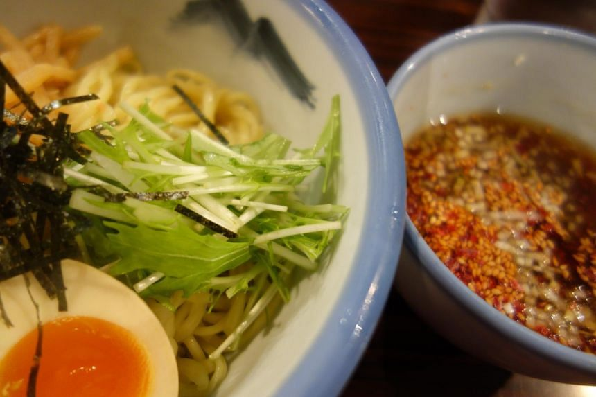 Besides its signature yuzu shio ramen, yuzu shoyu ramen, yuzu ratan ramen and yuzu tsukemen (pictured), the expanded menu will have small plates options as well as gyoza.