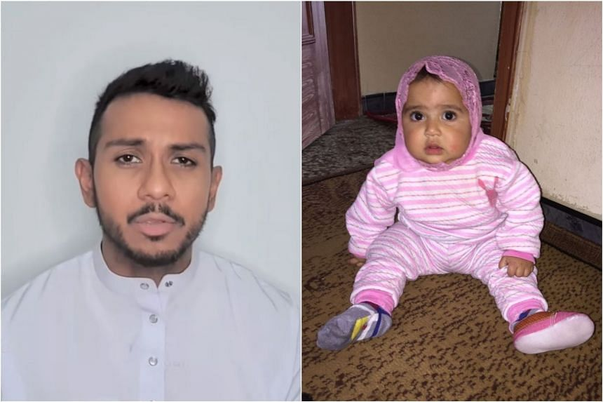 """In a Facebook post on June 3, 2019, singer Taufik Batisah (left) said his niece Hana (right) and her mother were """"trapped"""" in Lebanon."""