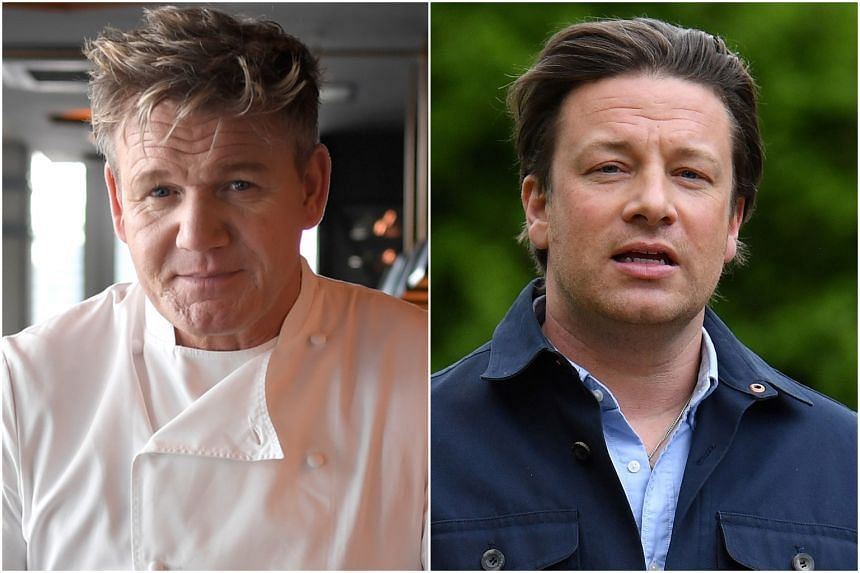 Gordon Ramsay's (left) restaurant empire has escaped the heat and is back in the black, but Jamie Oliver's restaurant business fell into administration recently.