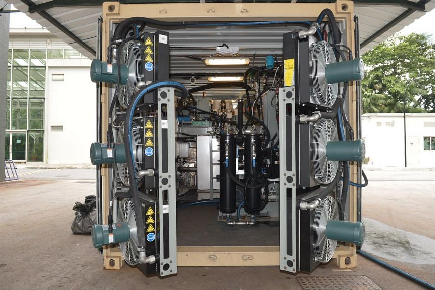 SP Group's gasification system that is part of a project to turn food waste, plastic and general waste into thermal energy.