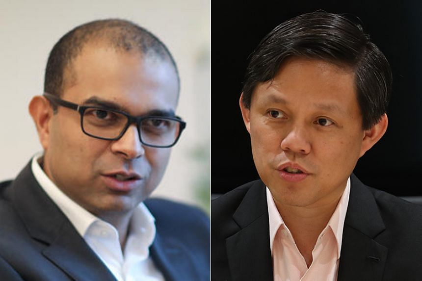 Senior Minister of State Janil Puthucheary (left) replaces Minister Chan Chun Sing as PAP party whip from June 6, 2019.