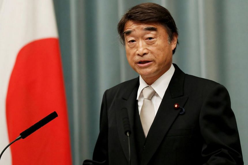 Health Minister Takumi Nemoto said he thought wearing high heels is within the range of what's commonly accepted as necessary and appropriate in the workplace.