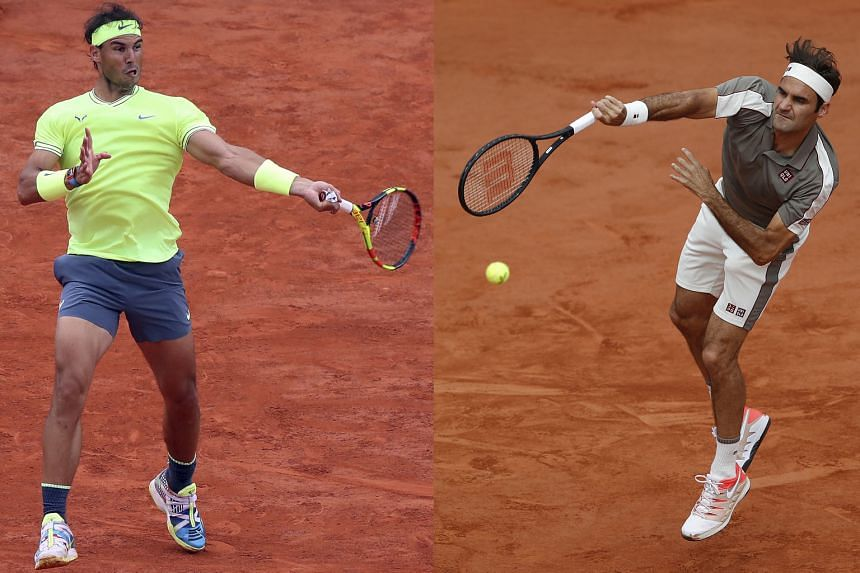 Rafael Nadal (left) and Roger Federer will meet for the 39th time in the French Open semi-finals tomorrow. While Nadal is seeking his 12th title, Federer is returning to clay following a three-year break. PHOTOS: EPA-EFE, REUTERS