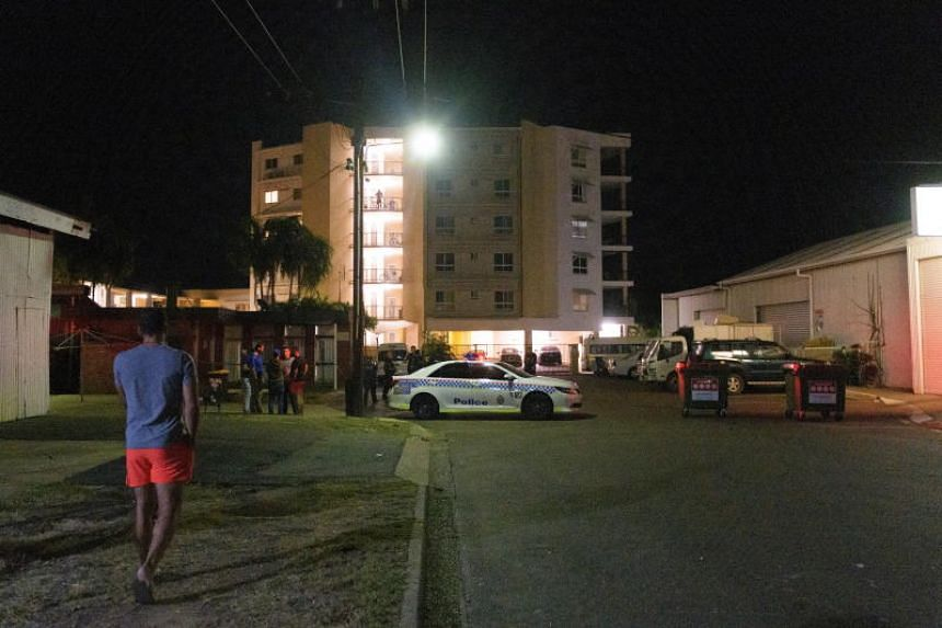 Police cordon off Palms Motel in Darwin, Australia, on June 4, 2019. A 45-year-old man was charged with four counts of murder on June 6 after a gunman killed four people in the city.