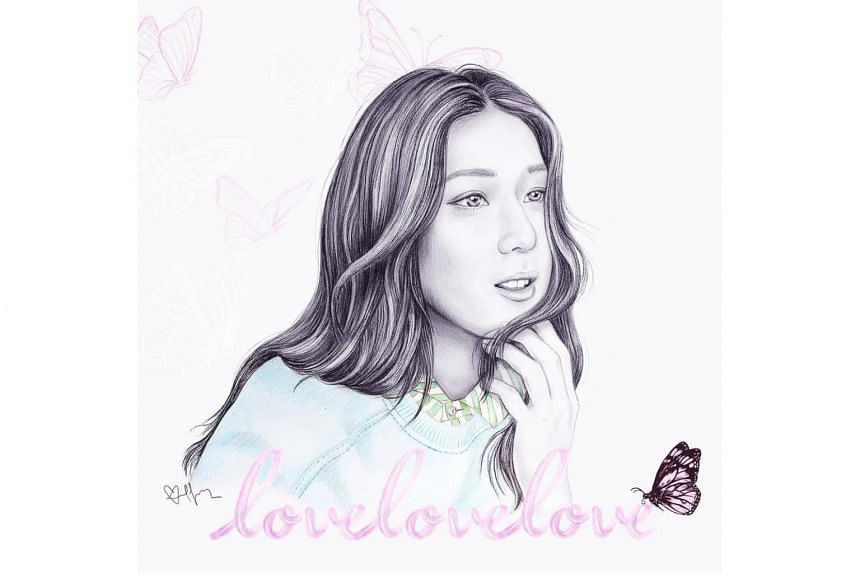 Hong Kong actress-singer Linda Chung posted a portrait of herself drawn by her cousin, on her Instagram account on June 5.