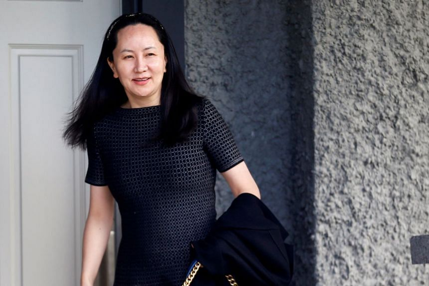 Meng Wanzhou leaves her family home in Vancouver, British Columbia, on May 8, 2019.