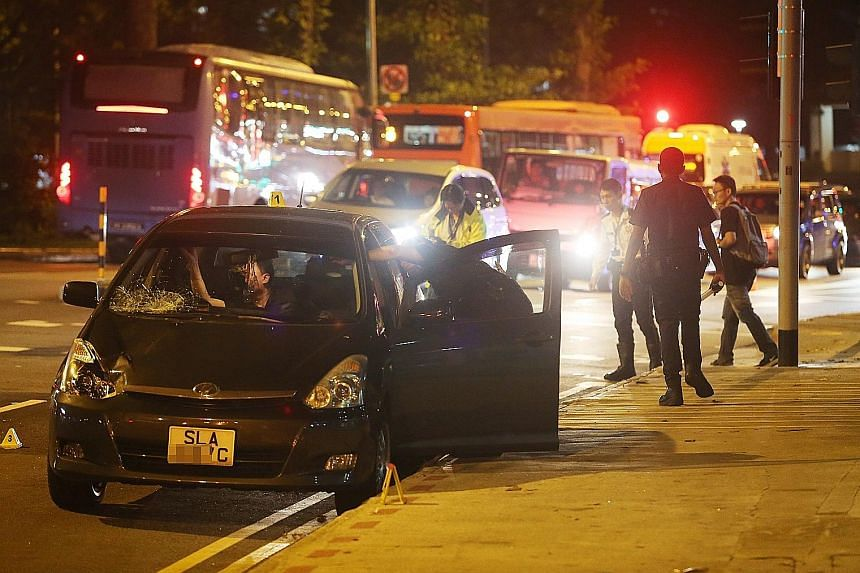 The accident took place in Jurong East Avenue 1 on Wednesday evening. Police said the 56-year-old driver of the vehicle involved is assisting in investigations.