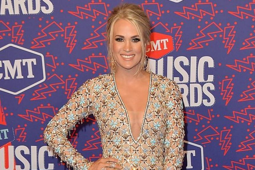 Country singer Carrie Underwood won Video Of The Year for her hit, Cry Pretty, at the CMT Music Awards on Wednesday.