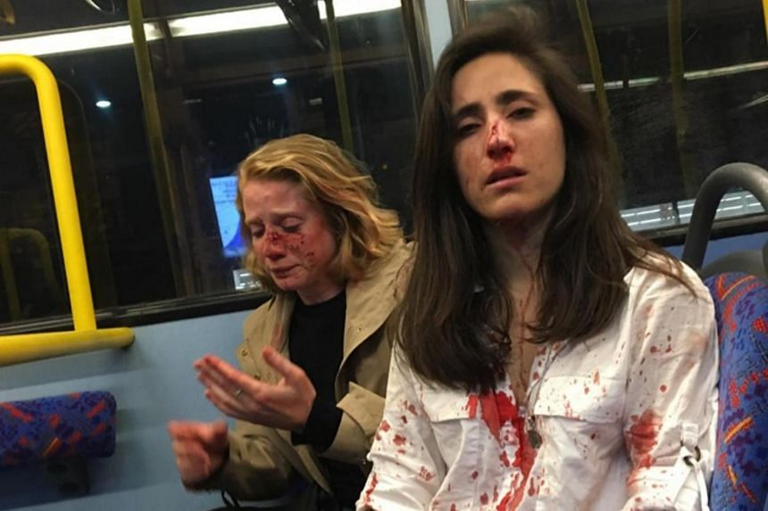 Ms Geymonat said she and her girlfriend were travelling on the top deck of a London night bus to Camden Town when they were attacked.