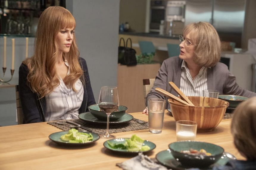 Nicole Kidman (left) and Meryl Streep in HBO's Big Little Lies, which premieres on June 10, 2019.