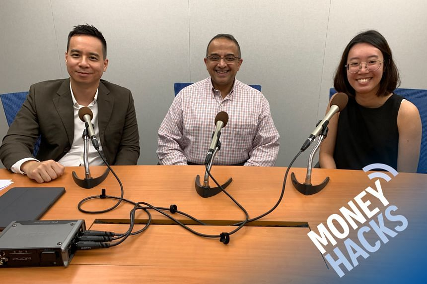 In this sponsored Money Hacks podcast aimed at 20-somethings who want to invest without needing much capital, Chris Lim (left) hosts 26-year-old Lynette Tan (right), a journalist at The Business Times, and OCBC Bank senior investment strategist Vasu