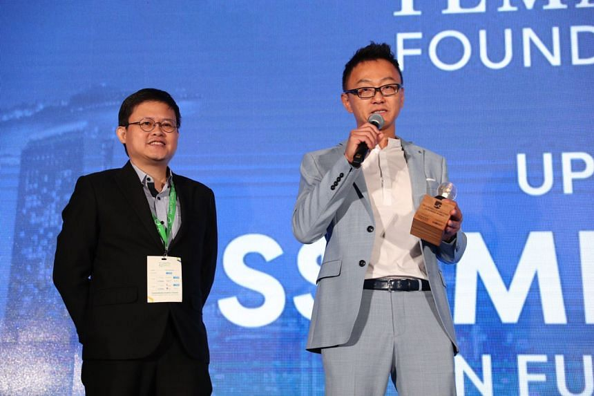 Sophie's Kitchen co-founder and chief operating officer Barnabas Chan (left), with founder and chief executive officer Eugene Wang. Sophie's Kitchen was named the winner of the Liveability Challenge 2019.