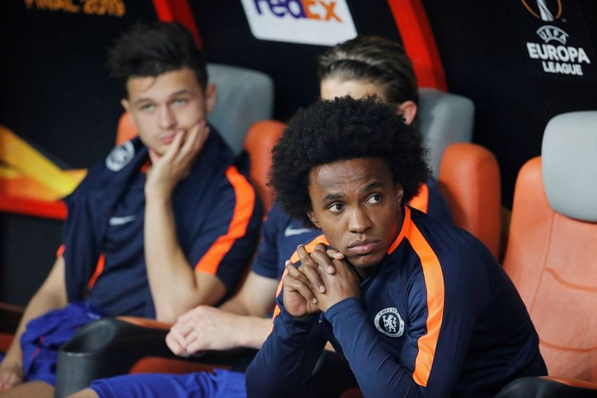 Willian (above, right), who has played for Chelsea since 2013, represented Brazil at the last two World Cups.