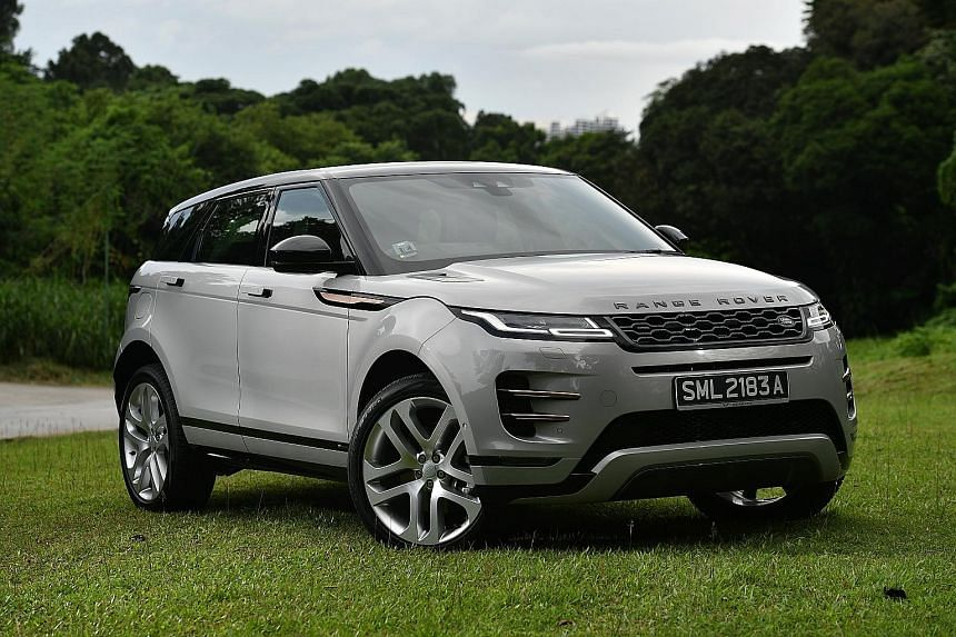 The Range Rover Evoque has a 48-volt mild hybrid system, which allows it to harvest electrical power when the car is decelerating.