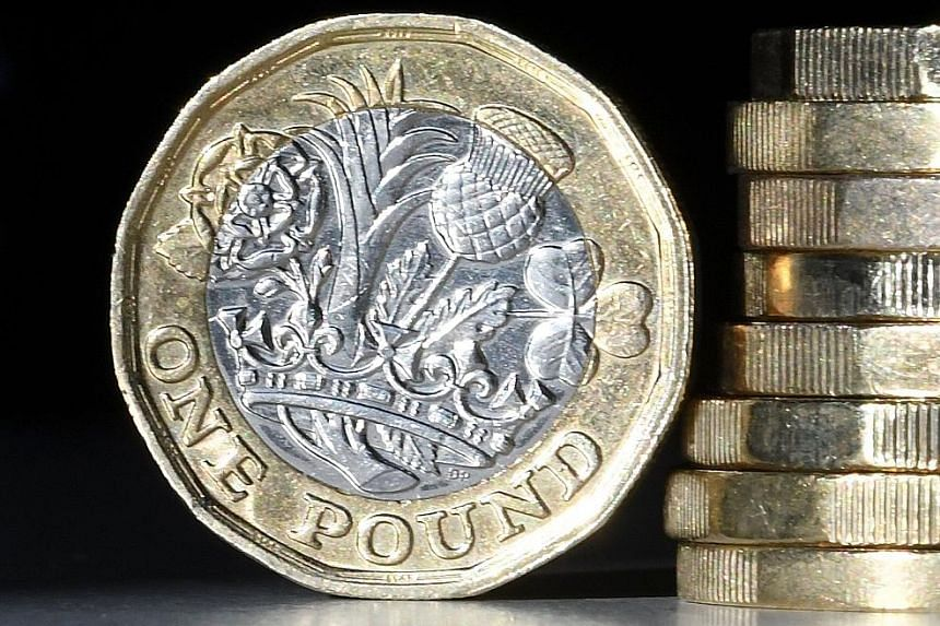 The pound's fortunes have ebbed and flowed since the EU referendum in 2016, along with the chances of a Brexit deal. PHOTO: AGENCE FRANCE-PRESSE