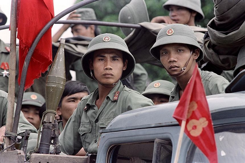 Vietnamese soldiers waiting to leave Cambodia on Sept 20, 1989, following the withdrawal of troops from Cambodia. The Ministry of Foreign Affairs said that while Singapore and Vietnam were on opposing sides in the past and have different views of tha