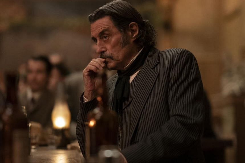 Ian McShane in Deadwood: The Movie, which is now streaming on HBO Go and getting reviews as glowing as those for the show.