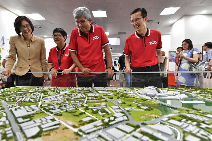Dr Yaacob Ibrahim, an MP for Jalan Besar GRC, at an exhibition featuring key points in the Kallang River's history, at the National Library on June 8, 2019.