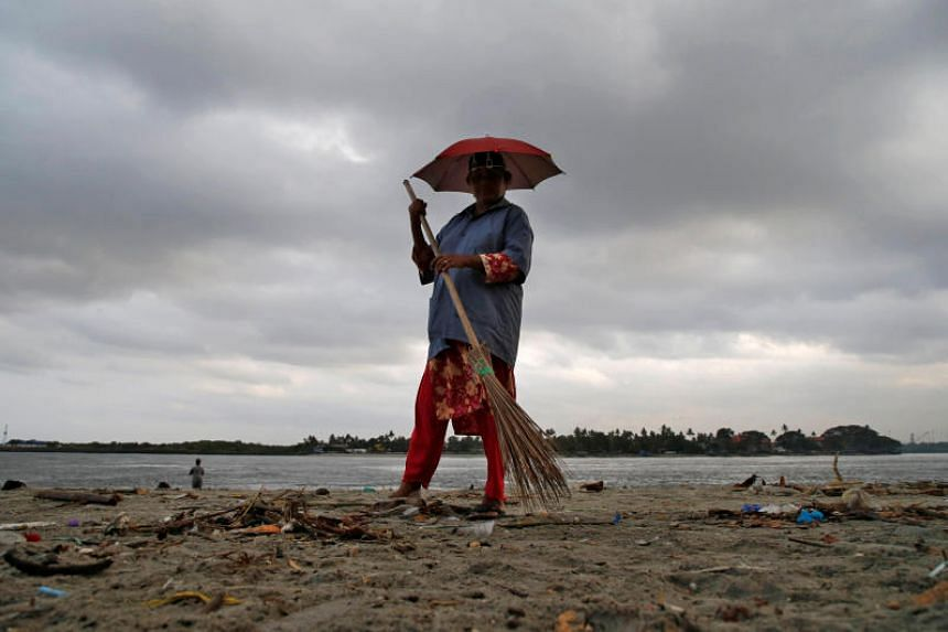 Pre-monsoon clouds at Fort Kochi beach in Kochi, India, on May 9, 2019. India's annual monsoon arrived on the coast of southern Kerala state on June 8, 2019, a week later than usual.