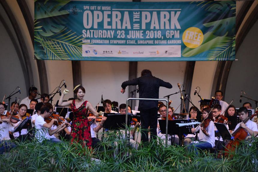 The 12th edition of the Singapore Lyric Opera's free annual concert Opera in the Park will feature songs of nature and hope.