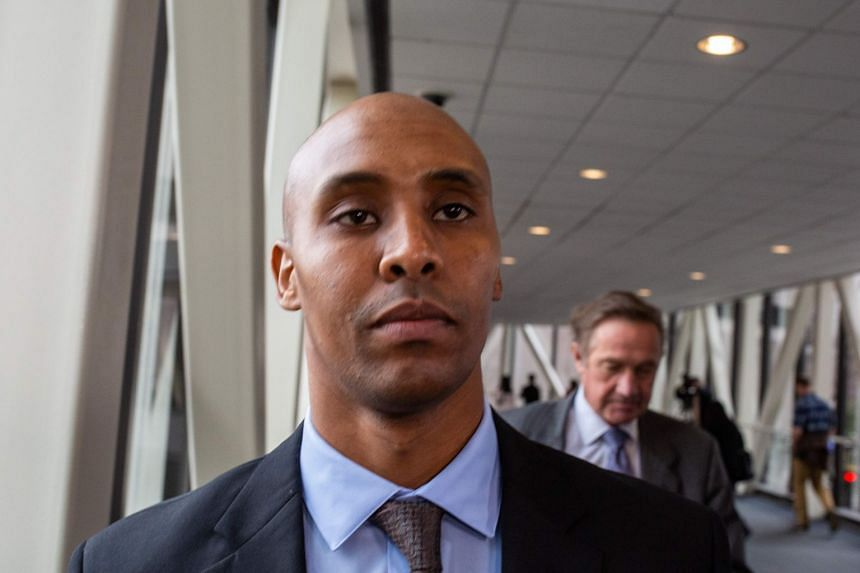 Mohamed Noor leaving the Hennepin County Government Center in Minneapolis in April 2019.