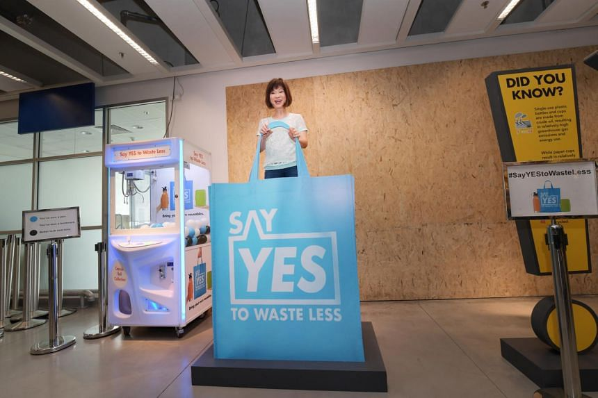 Senior Minister of State for the Environment and Water Resources Amy Khor launched the Say Yes to Waste Less campaign at Ikea Tampines on June 8, 2019.
