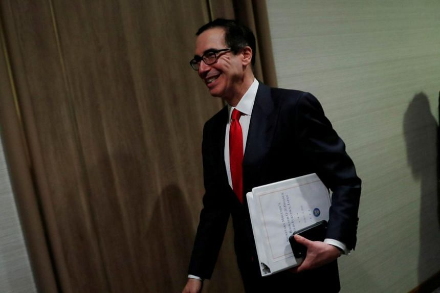 US Treasury Secretary Steven Mnuchin spoke at a panel on global taxation at G-20 after the French and British finance ministers expressed sympathy with Mr Mnuchin's concerns that new tax rules do not discriminate against particular firms.