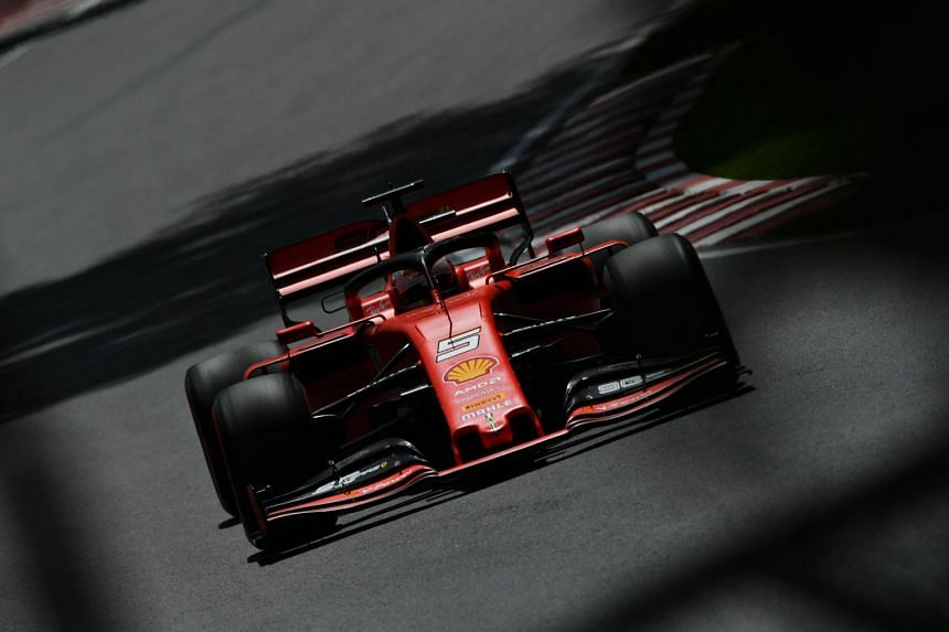 Vettel on track during final practice for the Canadian grand prix.