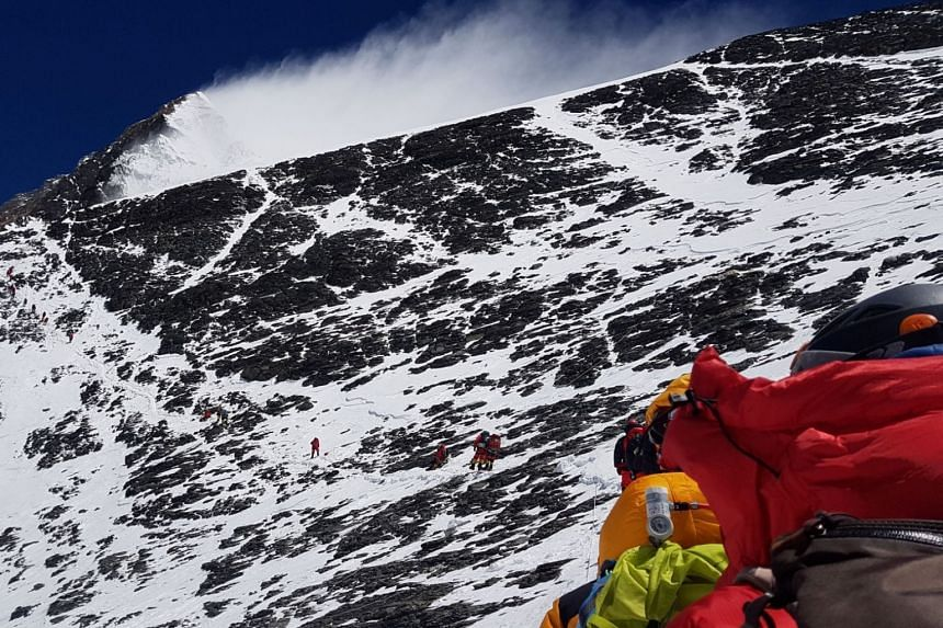 Climbers on the south side of Mount Everest in Nepal, on May 20, 2019.