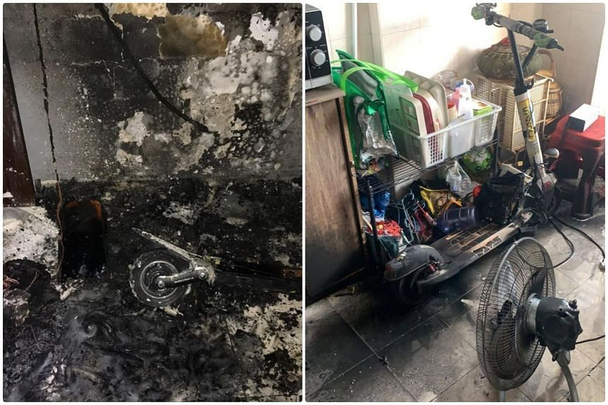 Two fires were reported on Saturday. According to preliminary investigations, both fires originated from personal mobility device batteries which were being charged.
