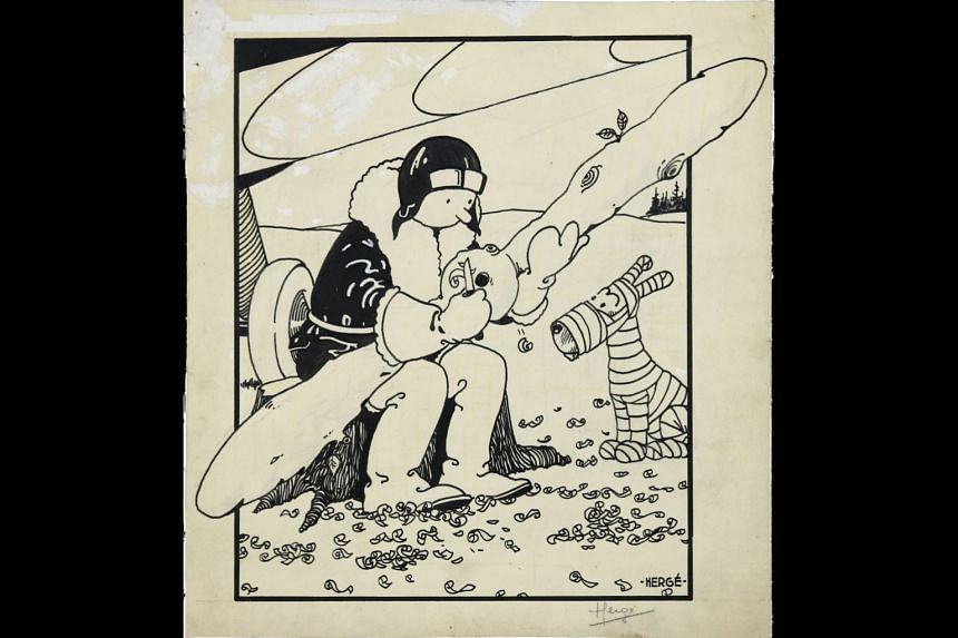 The February 1930 first cover appearance of Tintin, from Tintin In The Land Of The Soviets.