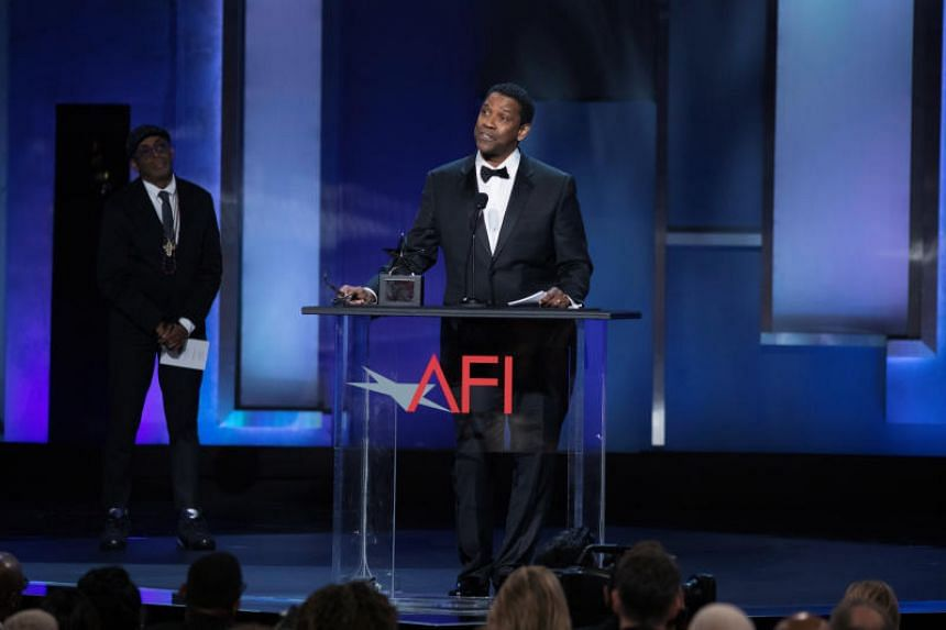 Denzel Washington accepting the 47th AFI Life Achievement Award in Los Angeles, California, on June 6, 2019.