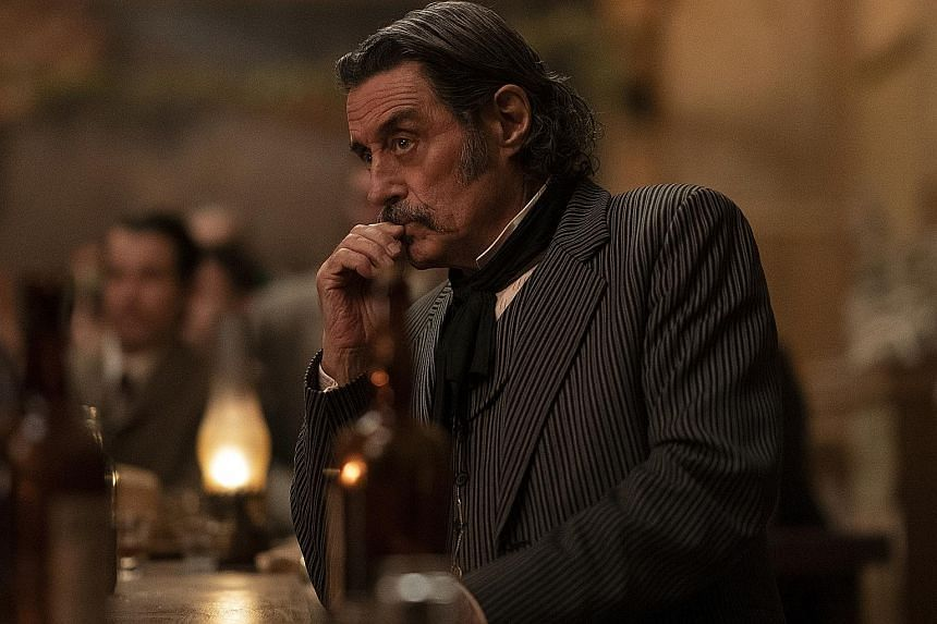 Ian McShane (above), John Hawkes and Timothy Olyphant star in Deadwood: The Movie.