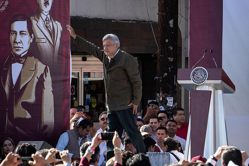 Mexican President Andres Manuel Lopez Obrador at a rally in Tijuana last week. He has been criticised over the deal for allowing the US to dictate how Mexico uses its security forces, though some say he had little choice.